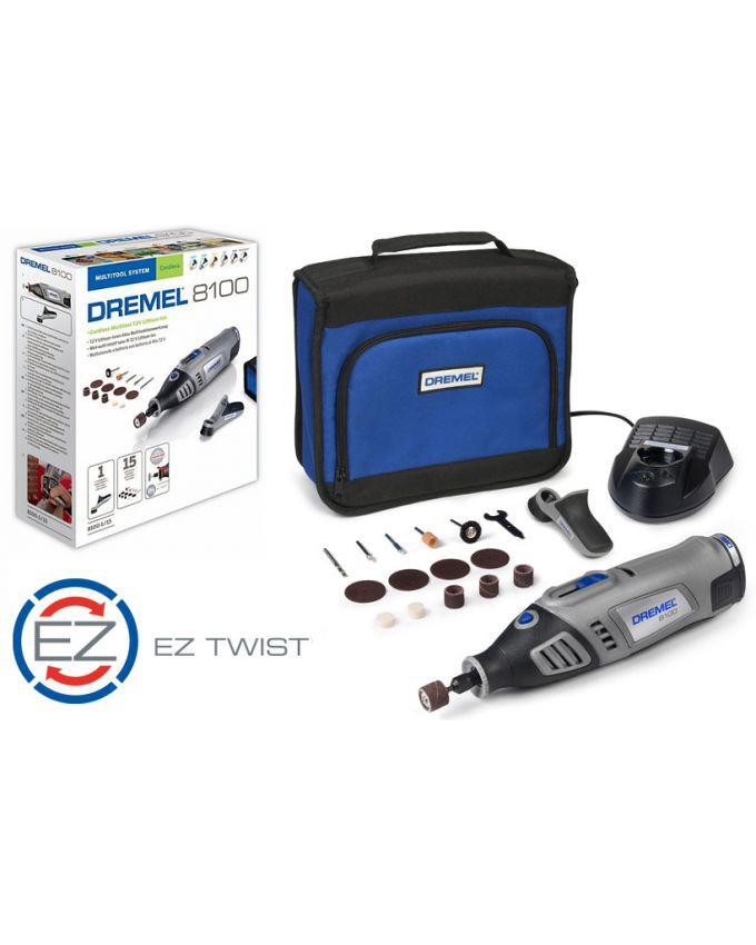 DREMEL® 8100 Cordless Mini Rotary Tool with 15 Accessories 8100-1//15 Cordless